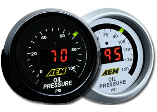 AEM Fuel & Oil Pressure Display Gauge 0-100psi